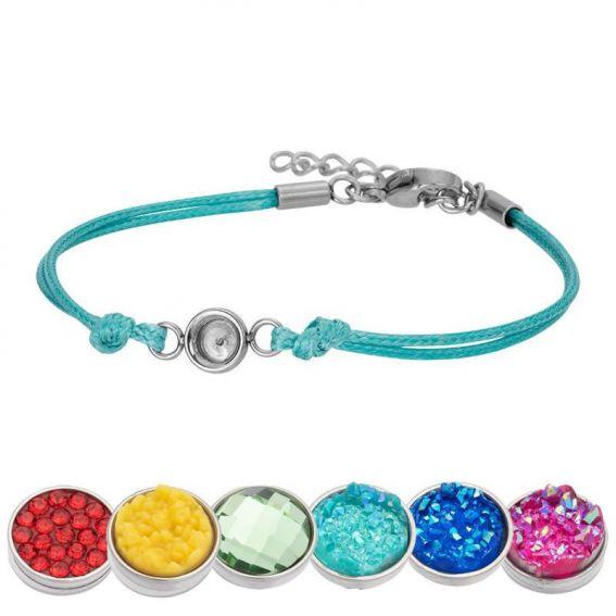 Bracelet iXXXi Wax vert/turquoise pour Top part - Bracelets iXXXi