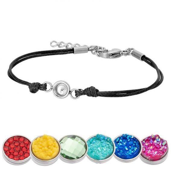 Bracelet iXXXi Wax noir pour Top part - Bracelets de marque iXXXi