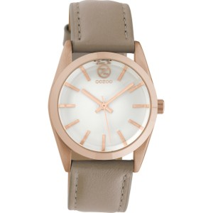 Montre Oozoo Timepieces C10187 taupe- Marque montre Oozoo