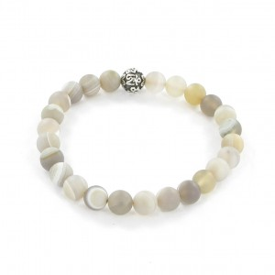 Göshö - [Purity / Peace] White Agate - Bracelet Gosho