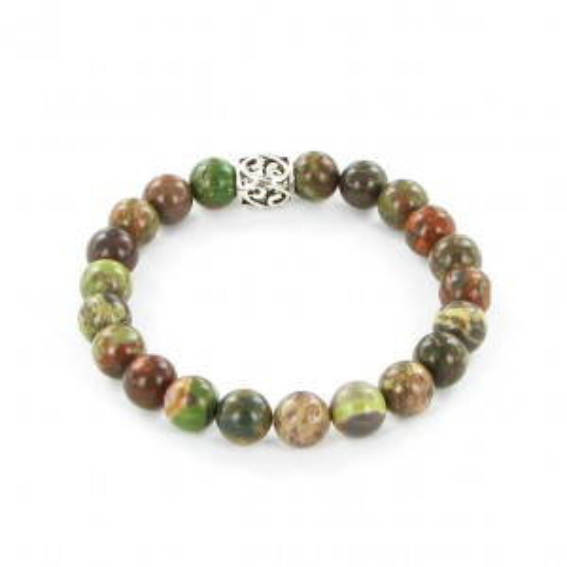 Bracelet Göshö - Agate de forêt tropicale - Bracelet en pierres naturelles