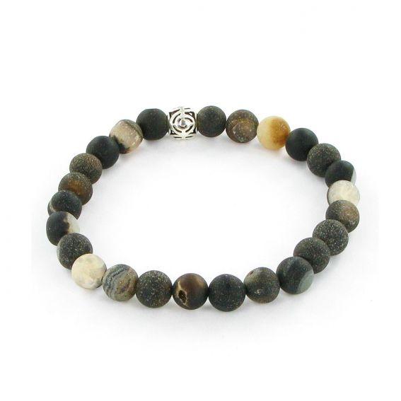Bracelet Göshö - Agate du Botswana - Bracelet en pierres naturelles