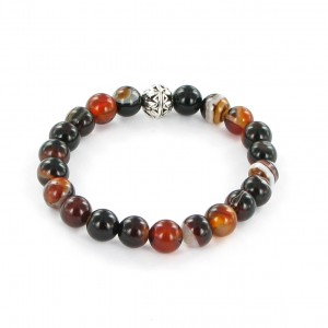 Göshö - [Calm / Lucky] Agate shiny brown eye - Bracelet Gosho