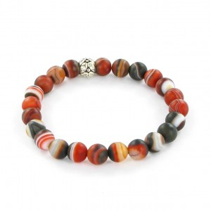 Göshö - [Calm / Lucky] Agate matte brown eye - Bracelet Gosho