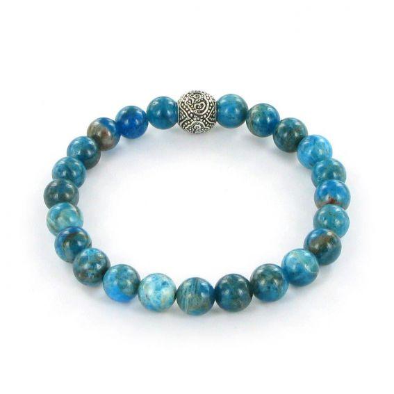 Bracelet Göshö [Extraversion] Apatite bleu - Pierres naturelles