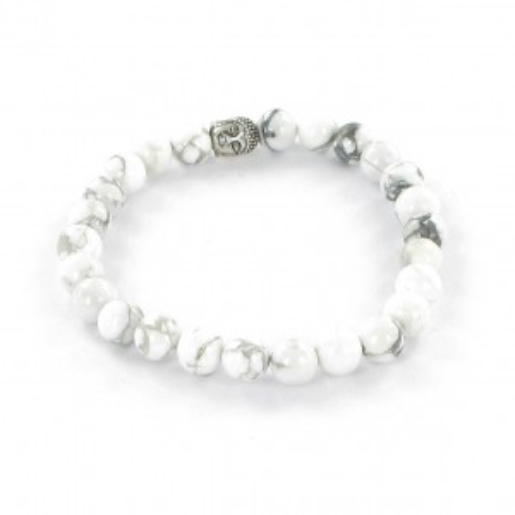 Göshö - [Slimming] bright white Howolite - Bracelet Gosho