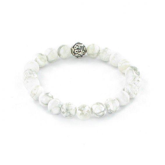 Göshö - [Slimming] Howolite white matte - Bracelet Gosho