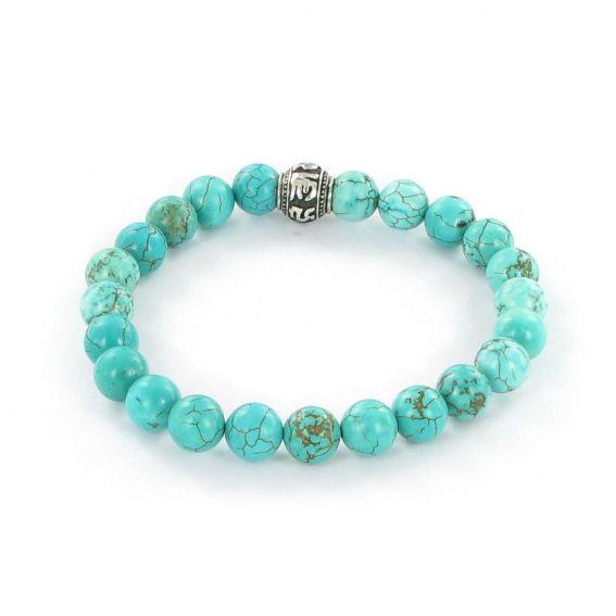 Bracelet Göshö [Minceur] Howolite turquoise brillant - Pierres naturelles