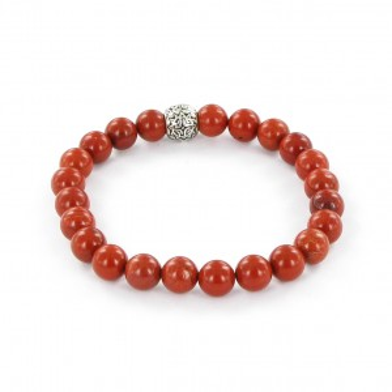 Bracelet Göshö [Circulation sanguine] Jaspe rouge brillant - Pierres naturelles