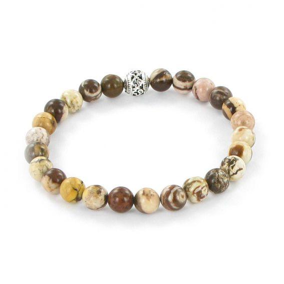 Bracelet Göshö [Fatigue] Jaspe zébré - Bracelets en pierres naturelles