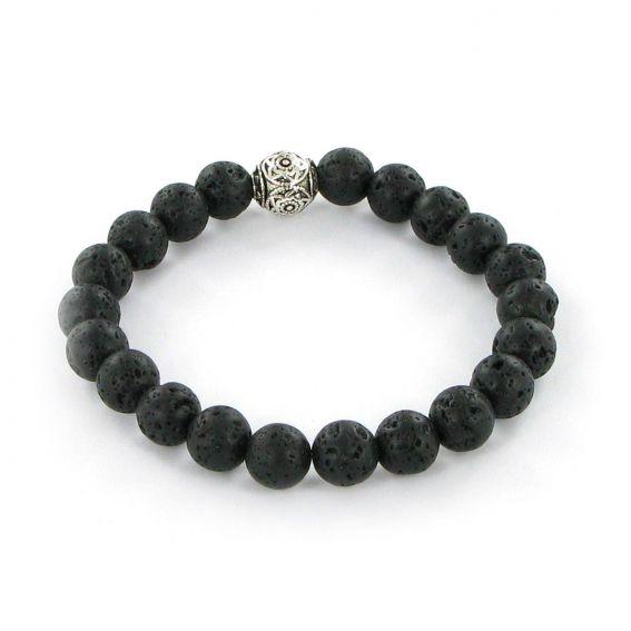 Bracelet Göshö [Emotions] Lave noir - Bracelets en pierres naturelles