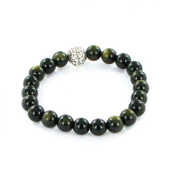 Bracelet Göshö [Courage] Obsidienne dorée - Bracelets en pierres naturelles