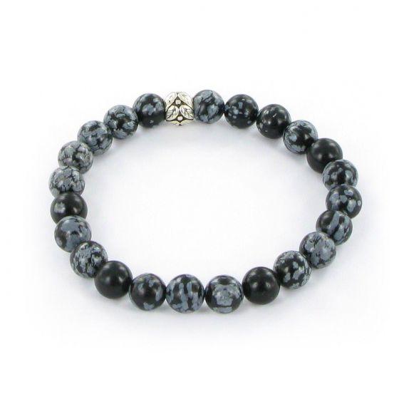 Bracelet Göshö [Estomac] Obsidienne mouchetée - Bracelets en pierres naturelles