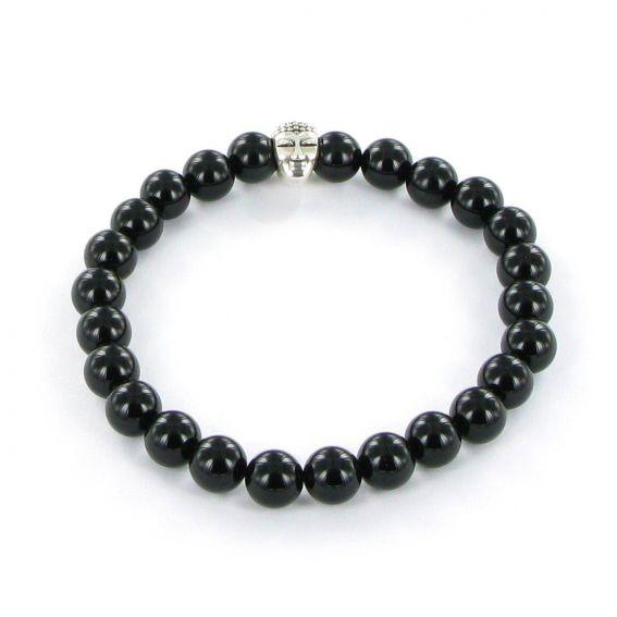 Bracelet Göshö [Robustesse] Onyx noir brillant - Pierres naturelles