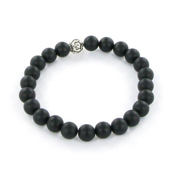 Bracelet Göshö [Robustesse] Onyx noir mate - Pierres naturelles