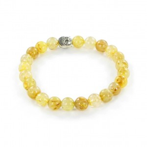 Göshö - [Strengthens the will] Quartz Rutil - Bracelet Gosho