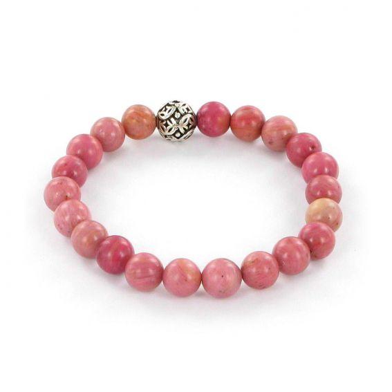 Bracelet Göshö [Amour/Couple] Rhodonite - Pierres naturelles