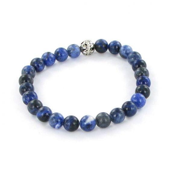 Bracelet Göshö [Confiance en soi] Sodalite brillant - Pierres naturelles