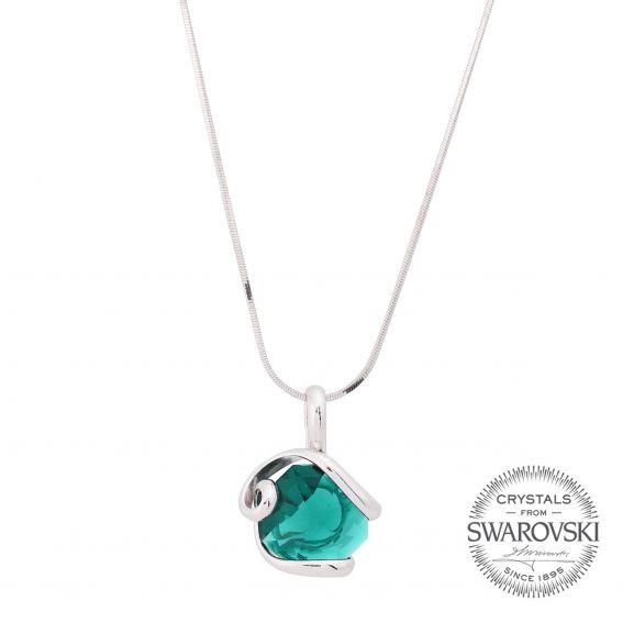 Marazzini - crystal collar octagon Swarovski emerald