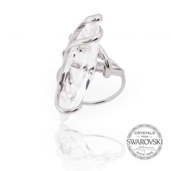 Marazzini - Swarovski crystal shuttle ring