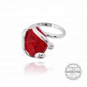 Marazzini - red crystal ring siam Swarovski