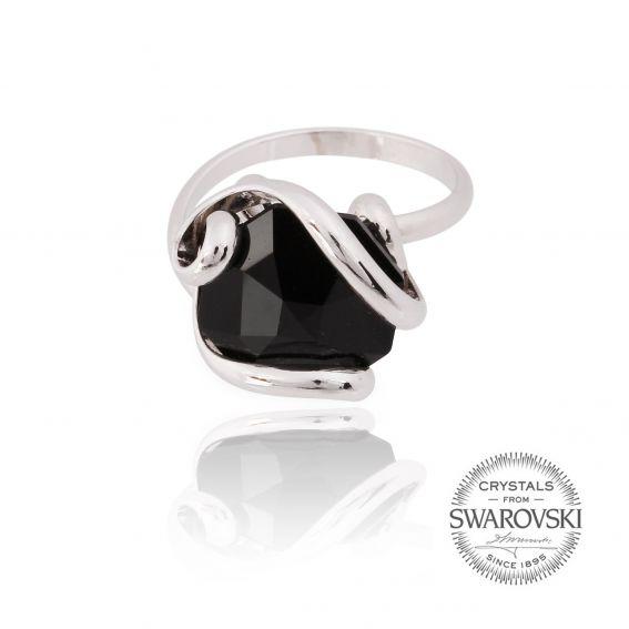 Andrea Marazzini bijoux - Bague cristal Swarovski noir