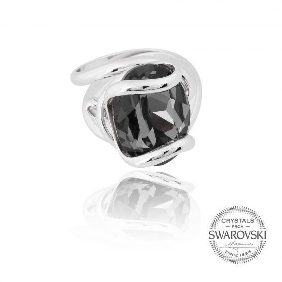 Andrea Marazzini bijoux - Bague cristal Swarovski silver night
