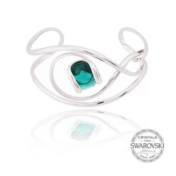 Andrea Marazzini bijoux - Bracelet cristal Swarovski émeraude