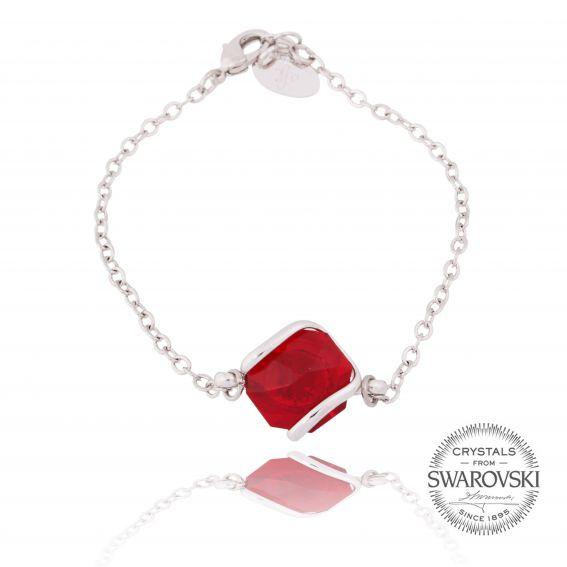 Andrea Marazzini bijoux - Bracelet cristal Swarovski rouge siam