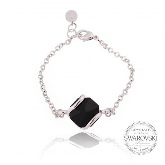 Andrea Marazzini bijoux - Bracelet cristal Swarovski noir