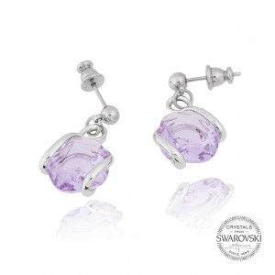 Boucles d'oreille Andrea Marazzini - Cristal Swarovski lila
