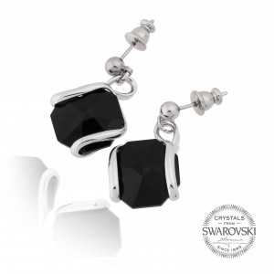 Marazzini - black Swarovski crystal earrings