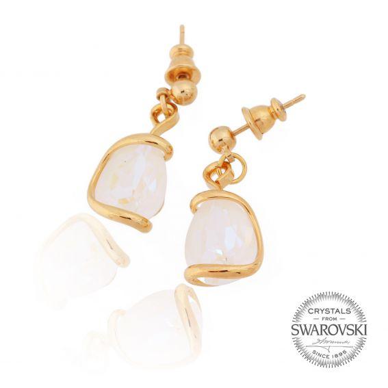 Boucles d'oreille cristal Swarovski white delite