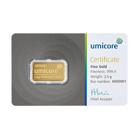 Gold bar 2.5 grams - Buy online a 2.5 gram gold bar