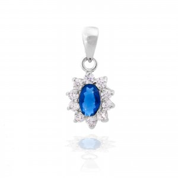 Bijou en argent - Diana sapphire pendant