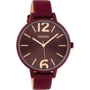 Montre Oozoo Timepieces C10444 burgundy - Marque montre Oozoo