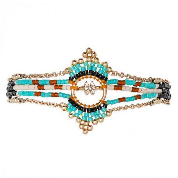 Mini manchette Hipanema Inuit Turquoise - Bijoux de la marque Hipanema