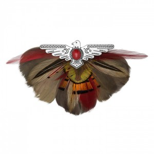 Aquila Red brooch