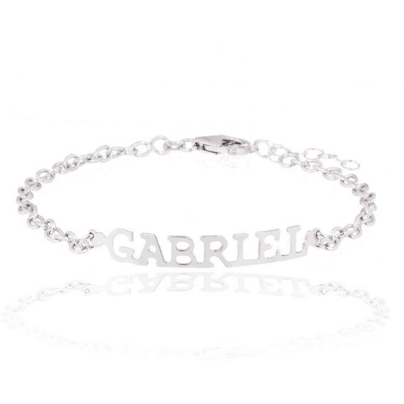 Bracelet prénom en argent - Bracelet personnalisable, Bijoux en argent