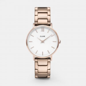 CLUSE - CW0101203027 - Minuit 3-Link Rose Gold White/Rose Gold