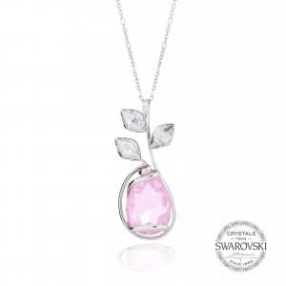 Swarovski crystal necklace denim mini