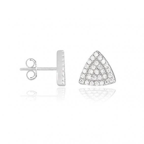 Perceuses triangles avec pierres - Bijoux en argent 925