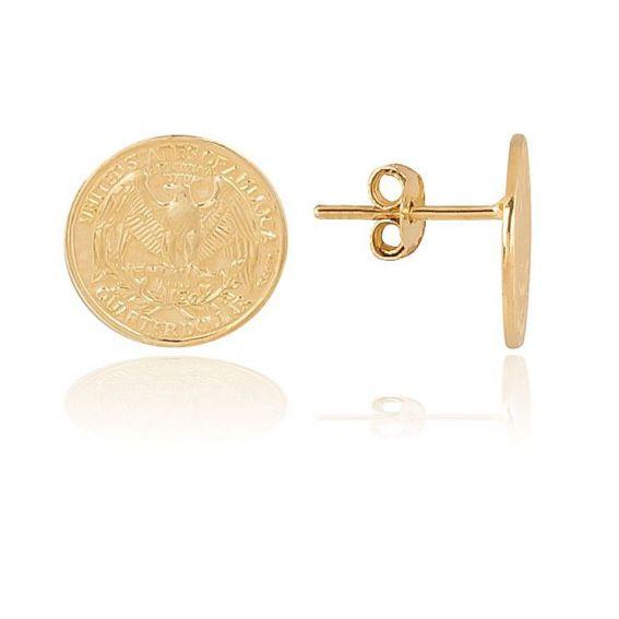 Perceuses pièce dorée - Bijoux en argent 925