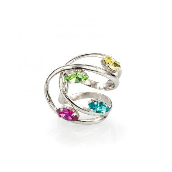 Andrea Marazzini bijoux - Bague L.A. avec cristaux Swarovski