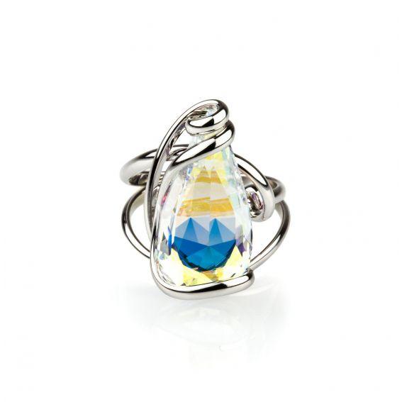 Andrea Marazzini bijoux -Bague Florence AB avec cristaux Swarovski