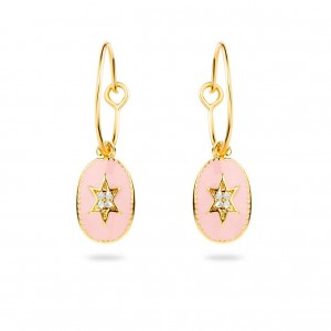 Mya Bay - Creoles north star, pink enamelled