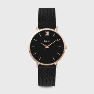 Montre CLUSE - La minuit Mesh rose gold/black - CW0101203024