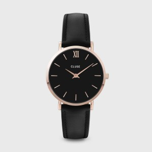 Watch CLUSE - The midnight rose gold white / black