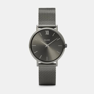 CLUSE Watch - Midnight Mesh Gold Black / Black