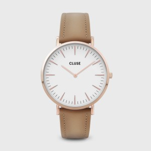 Watch CLUSE - The rose gold bohemian white / caramel
